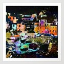 little town in Italy Art Print
