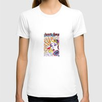 Just say no! Womens Fitted Tee White SMALL