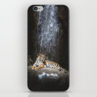 iPhone & iPod Skin featuring Big Cat by HappyMelvin
