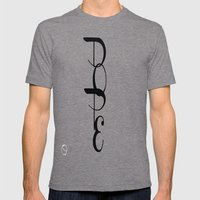 DOPE Mens Fitted Tee Tri-Grey SMALL
