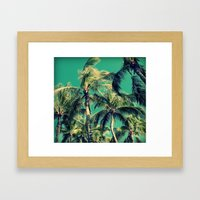 Paradise Palm Trees  Framed Art Print