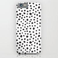 iPhone & iPod Case featuring Black Spots  by Rachel Follett