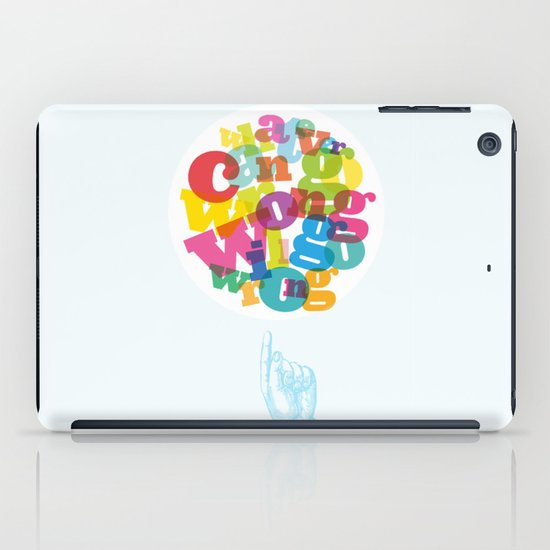 Whatever can go wrong will go wrong iPad Case