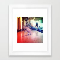 Running Dino Framed Art Print