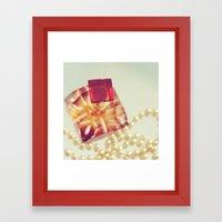 Pearls. Framed Art Print