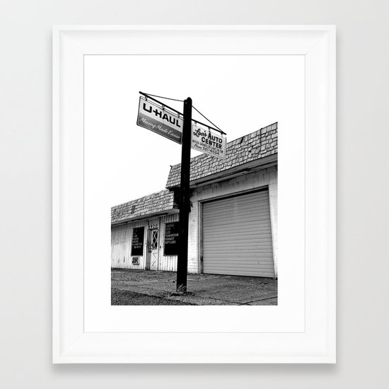 Lou's Auto Center Framed Art Print