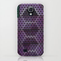 Galaxy S4 Cases featuring Flower of Life by Aaron Carberry