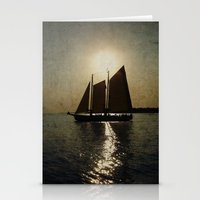 Sailing at twilight Stationery Cards