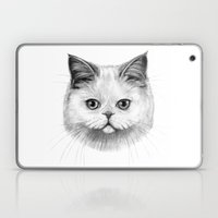 White Cat portrait G130 Laptop & iPad Skin