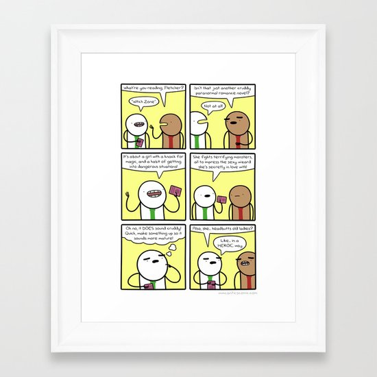 Antics #369 - fictional fiction Framed Art Print