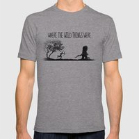 Where The Wild Things We… Mens Fitted Tee Athletic Grey SMALL