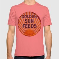 Golden Sun Feeds Mens Fitted Tee Pomegranate SMALL