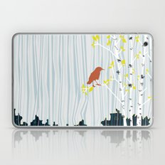 bird in birch Laptop & iPad Skin