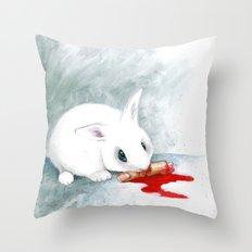 can i finish? Throw Pillow
