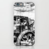 iPhone Cases featuring Steam Lorry And traction Engine Vintage by David Pyatt