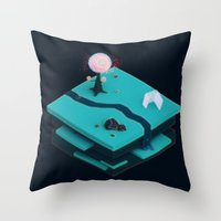 Earth Sandwich One, Variant C Throw Pillow