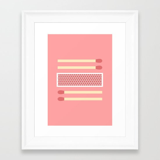 #75 Matches Framed Art Print