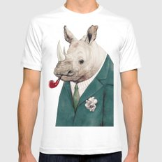 Rhinoceros Mens Fitted Tee White SMALL