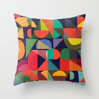 Color Blocks Throw Pillow