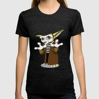 Jedi Mime Tricks Womens Fitted Tee Tri-Black SMALL