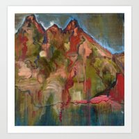 Mountaintop Blues Art Print