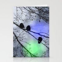Polar Crows Stationery Cards