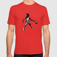 DR. J: On The Offensive Mens Fitted Tee Red SMALL