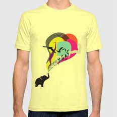 the elephant's dream Mens Fitted Tee Lemon SMALL
