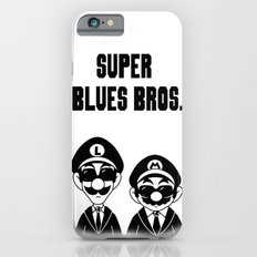 Super Blues Bros. (Black and White) iPhone 6 Slim Case