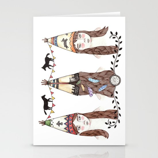 Tipi Party Stationery Card
