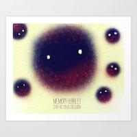 Memory Bubbles Art Print