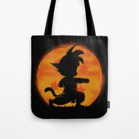 Goku by night Tote Bag