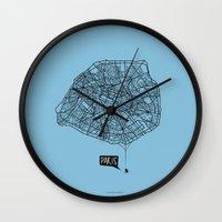 Spidermaps #1 Dark Wall Clock