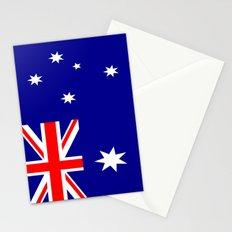 Flag of australia Stationery Cards