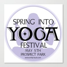 Spring Into Yoga! Canvas Print