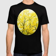 Yellow Splendor Mens Fitted Tee Black SMALL