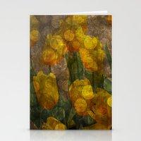 Tulips background Stationery Cards