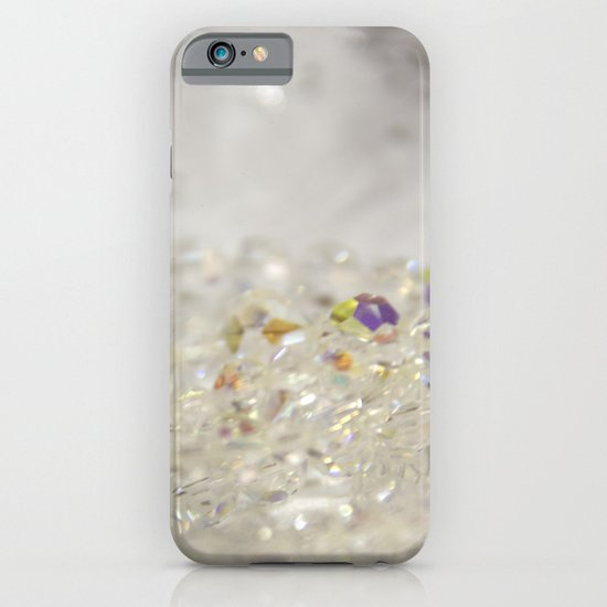White Crystals Bokeh iPhone & iPod Case