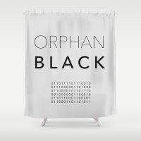 Orphan Binary Shower Curtain