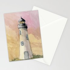 Lighthouse At Sunset Stationery Cards