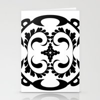 Black white tribal pattern Stationery Cards