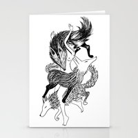 Femme Loup Tattoo Stationery Cards