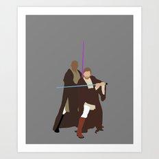 Obi and Mace Star Wars Digital Print Art Print