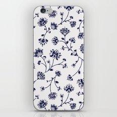 Indigo Floral Trail (reversed) iPhone & iPod Skin