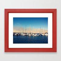 Boats in the Bay Framed Art Print