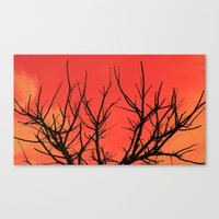 Fire Branch Canvas Print