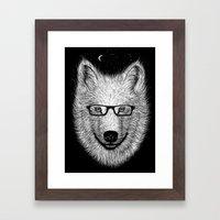 WHITE SPECTACLE Framed Art Print
