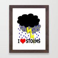 I Heart Storms Framed Art Print