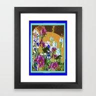 Lavender-Blue-Purple  Or… Framed Art Print