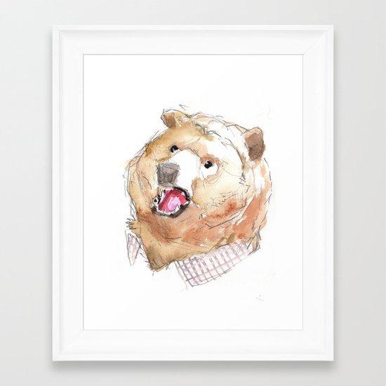 Mr. Grizzle Framed Art Print